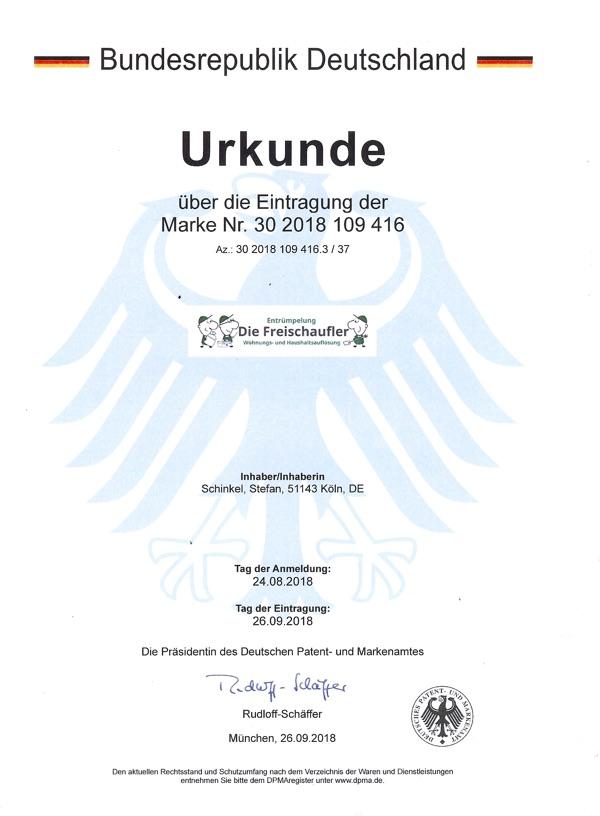 Die Freischaufler - Zertifikat Marke
